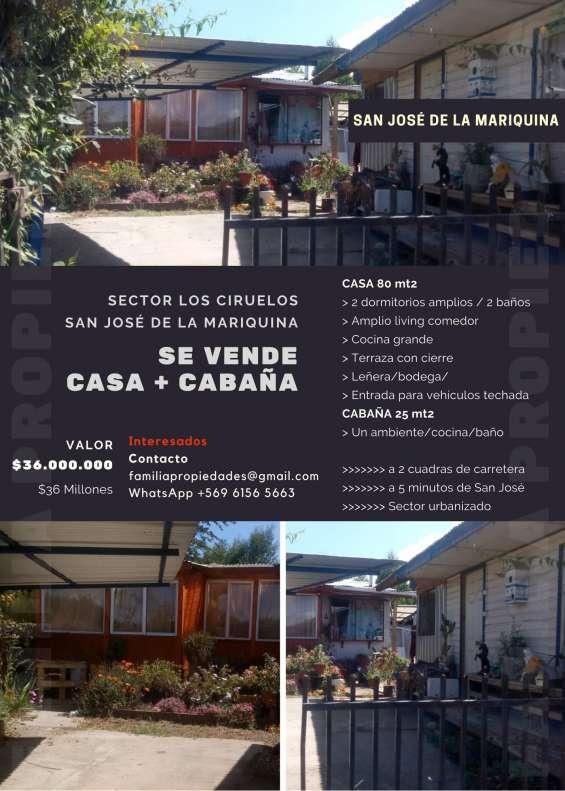 ¡por proyecto personal se vende casa amplia + cabaña! sector los ciruelos (san josé)