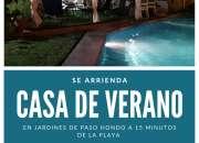 Exclusiva casa con piscina en arriendo